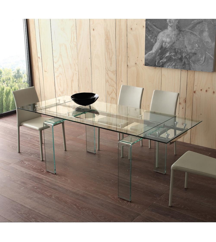 Tavolo Rettangolare Vetro.Tavolo In Vetro Mini Glass La Seggiola
