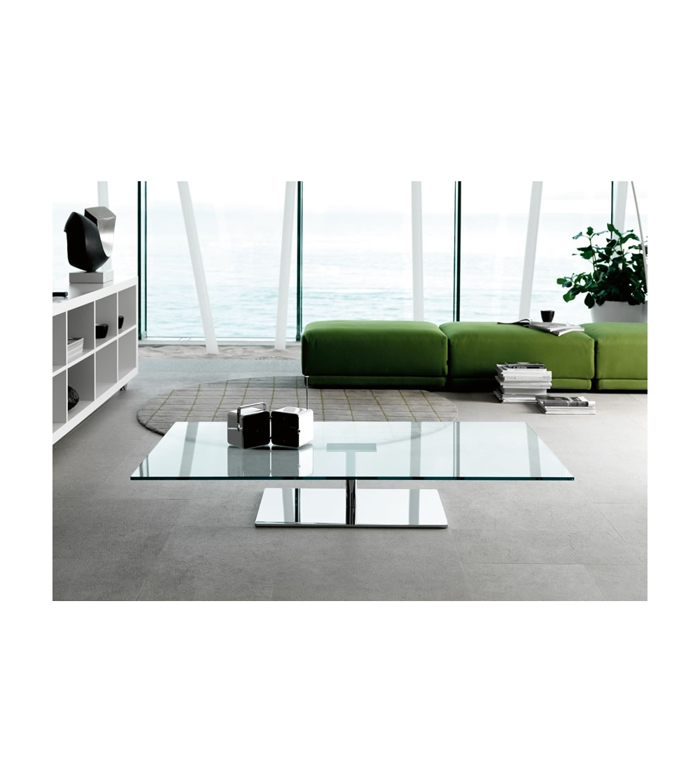 Table Basse En Verre Design Italien.Tonelli Design Farniente Table Basse Rectangulaire