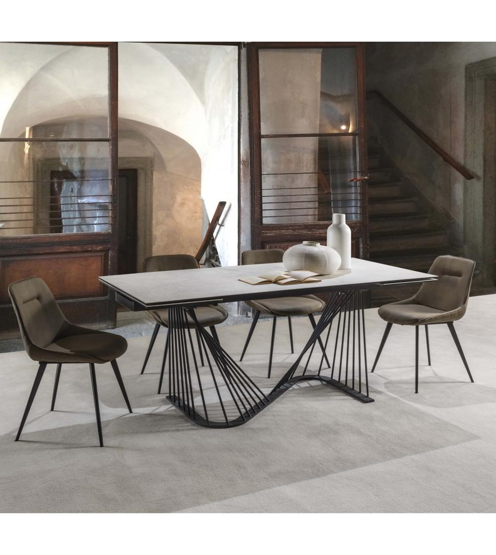 Tavolo In Vetro Nero Allungabile.Tavolo Allungabile Nuova Collezione Teatro La Seggiola