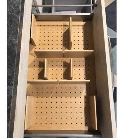 ... universal beech tableware organizer with 10 strips recycling bin. The back panel features LED interior lighting. AVAILABLE IN PROMPT DELIVERY & Structura Vis Kitchen