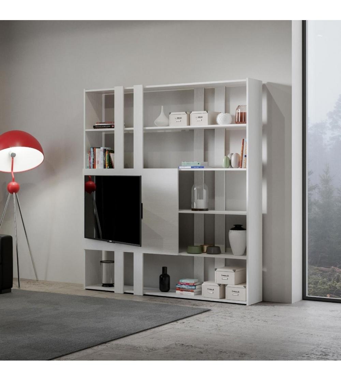 Meuble Tv Avec Bibliothèque bibliothèque meuble tv kato h - itamoby