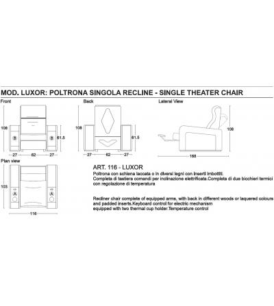 Dimensioni Poltrone Cinema.Vismara Design Poltrona Cinema Di Lusso Luxor