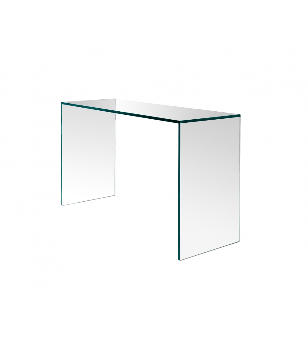 Gulliver Tonelli Design Console Table. Bridge Console Table Made Entirely  Of Transparent Tempered And/or Transparent Extra Clear Glass.