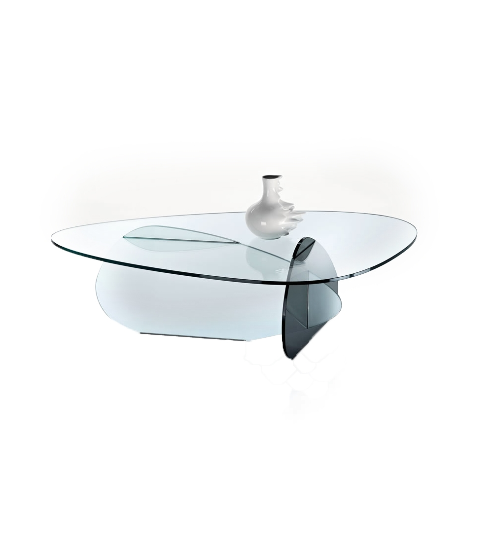 068bc480c483 Kat Tonelli Design Coffee Table composed of 3 sheets of glass with rounded  corners