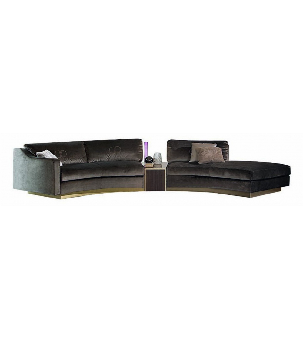 Montecarlo Daytona Modular Curved Sofa Upholstered In High Quality Fabric Designed By Leonardo Dainelli The Upper Layer Is Air Soft Covered
