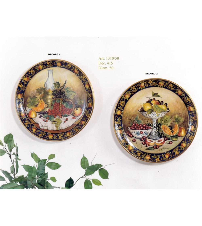 Come Appendere Piatti In Ceramica ceramic wall plate still-life batignani ceramiche