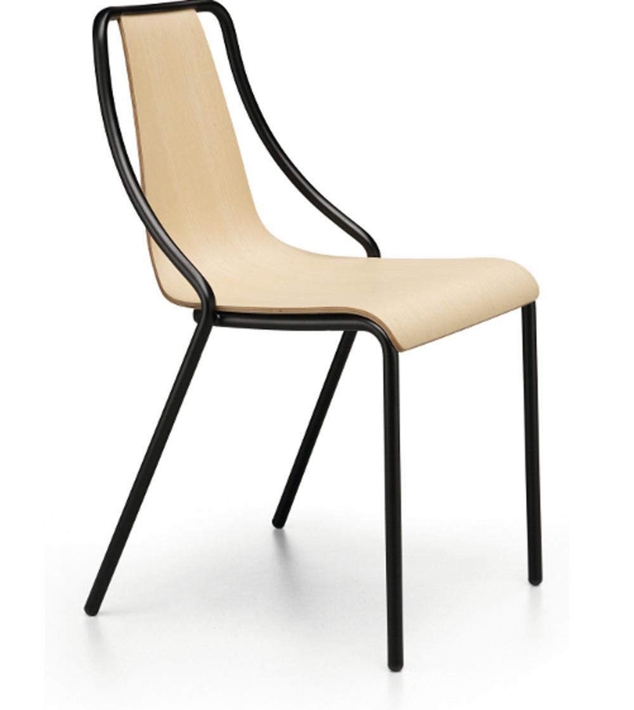 Chaise Pour Restaurant De La Collection Ola Par Midj Avec Structure En Acier Disponible Dans Diffrentes Finitions Et Couleurs