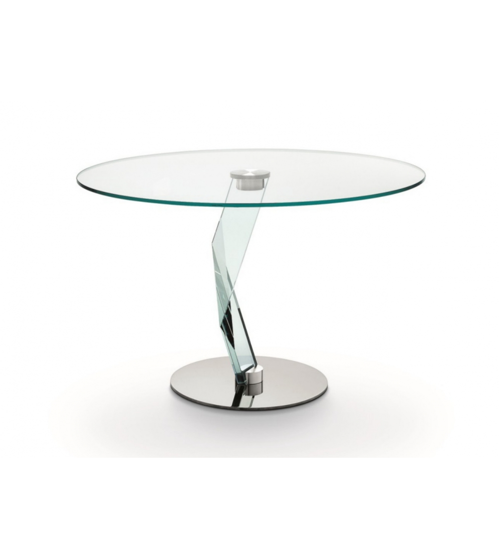 Table Ronde En Verre Pied Central.Table Ronde Bakkarat Haute Tonelli Design